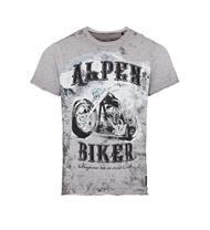 Trachten T-Shirt grau mit Töffprint