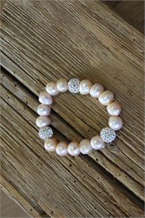 Trachtenarmband Perlen lachs