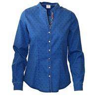 Trachtenbluse jeansblau