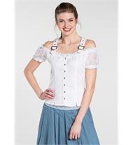 Trachtenbluse Kiss weiss