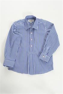 Trachtenhemd blau gross kariert - S