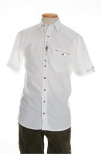 Trachtenhemd Comfort Fit Kurzarm weiss - Gr.37/38