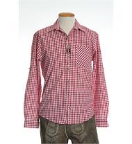 Trachtenhemd Comfort Fit Langarm rot kariert
