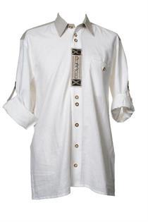 Trachtenhemd Comfort Fit Langarm weiss - Gr.35/36