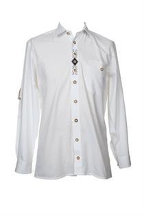 Trachtenhemd Comfort Fit Langarm weiss - Gr.37/38