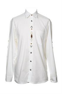 Trachtenhemd Comfort Fit Langarm weiss - Gr.39/40