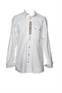 Trachtenhemd Comfort Fit Langarm weiss - Gr.43/44