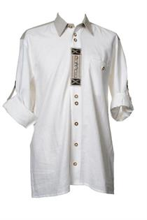 Trachtenhemd Comfort Fit Langarm weiss - Gr.45/46
