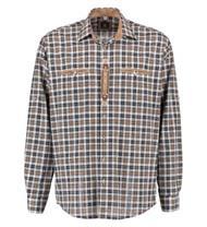 Trachtenhemd Comfort Fit Langarm weiss