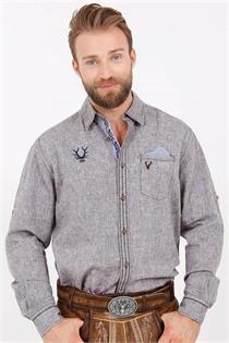 Trachtenhemd Regular Fit braun - XXL