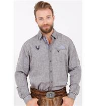 Trachtenhemd Regular Fit braun