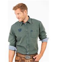 Trachtenhemd Regular Fit dunkelgrün