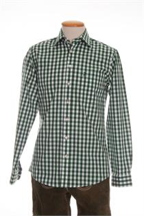 Trachtenhemd Regular Fit grün gross kariert - Gr. 37/38