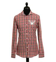 Trachtenhemd Regular Fit Langarm rot kariert