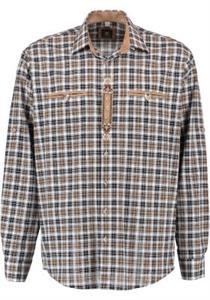 Trachtenhemd Regular Fit Langarm weiss - Gr.37/38