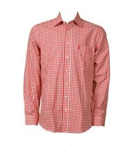 Trachtenhemd Regular Fit rot klein kariert