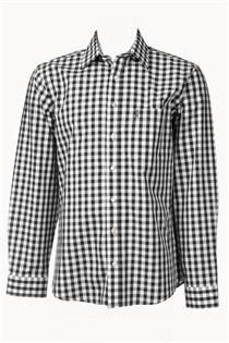 Trachtenhemd Regular Fit schwarz gross kariert - Gr. 37/38