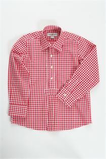 Trachtenhemd rot gross kariert - M