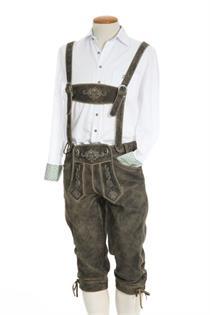 Trachtenhemd Slim Fit Langarm weiss - Gr.45/46