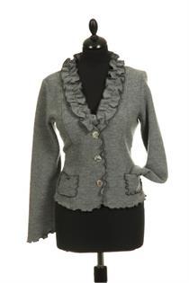 Trachtenjacke Wolle grau - Gr.36
