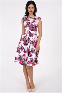 Trachtenkleid Morena pink geblumt - Gr.34