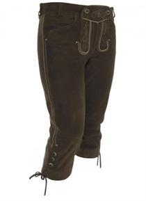 Trachtenlederhose Kniebund murmel - Gr. 48