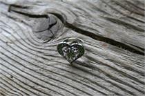 Trachtenring mit Herz - hellgrün