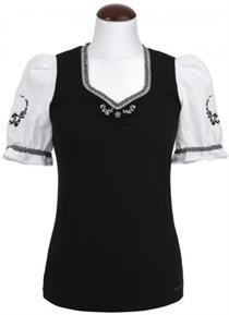 Trachtenshirt Amaretto schwarz - L