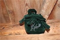Trachtentasche Samt mit Hirschmotiv - grün