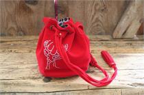 Trachtentasche Samt mit Hirschmotiv - rot