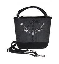 Trachtentasche schwarz mit Charivari
