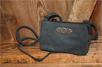 Trachtentasche zum Umhängen - schwarz