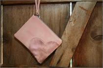 Zwillingsherz Tasche klein - rosa